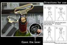 Two-prong Cork Puller Ah-so  Wine Opener
