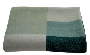 Green Throw Blanket  130 by 160 cm