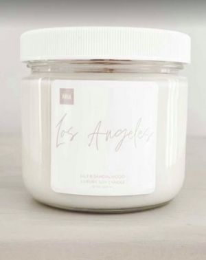 Los Angeles  Pure Soy Candles  12oz  Lilly and Sandalwood Scent