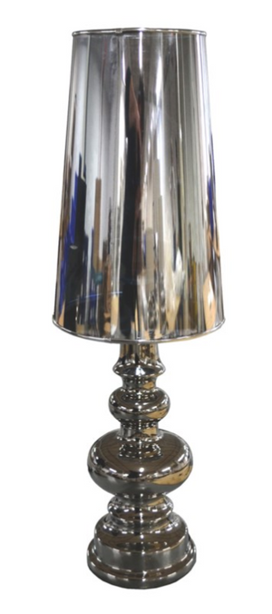 Chrome Lamp Ceramic  20 by 20 by 64 cm
