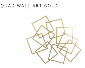 Quad Wall Art Gold