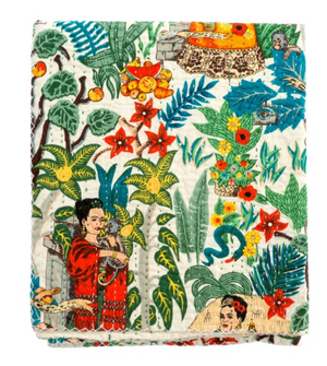 Frida Dreams Quilted Throw  50 by 60