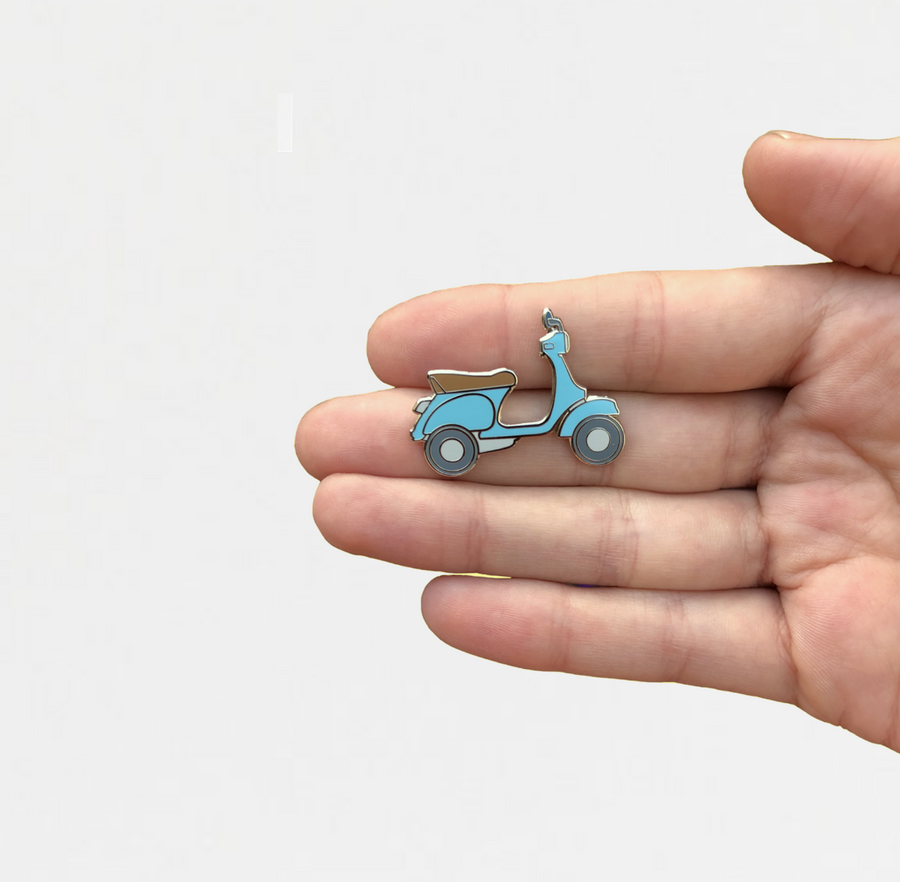 Blue Scooter Pin