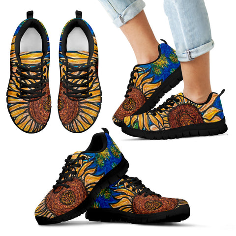 Charles Hutson Original Sunflower Sneakers: Kids' Black