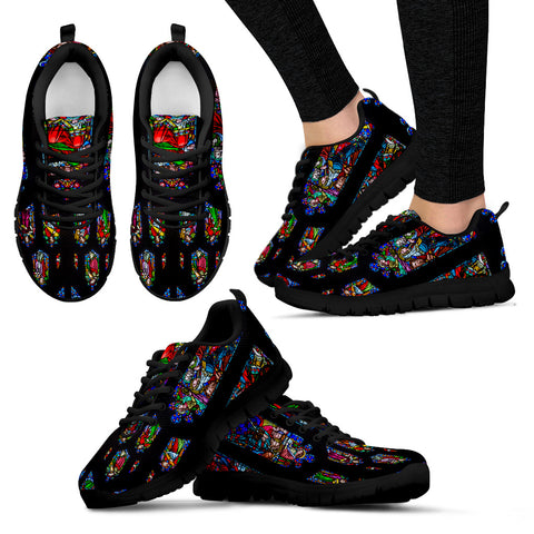 Women's Stained Glass Church Window Running Shoes