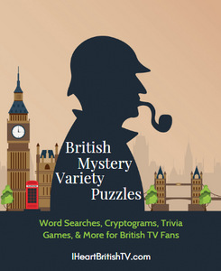 British TV Puzzle Lover's Bundle: Variety Puzzles, Word Searches, & Cryptograms