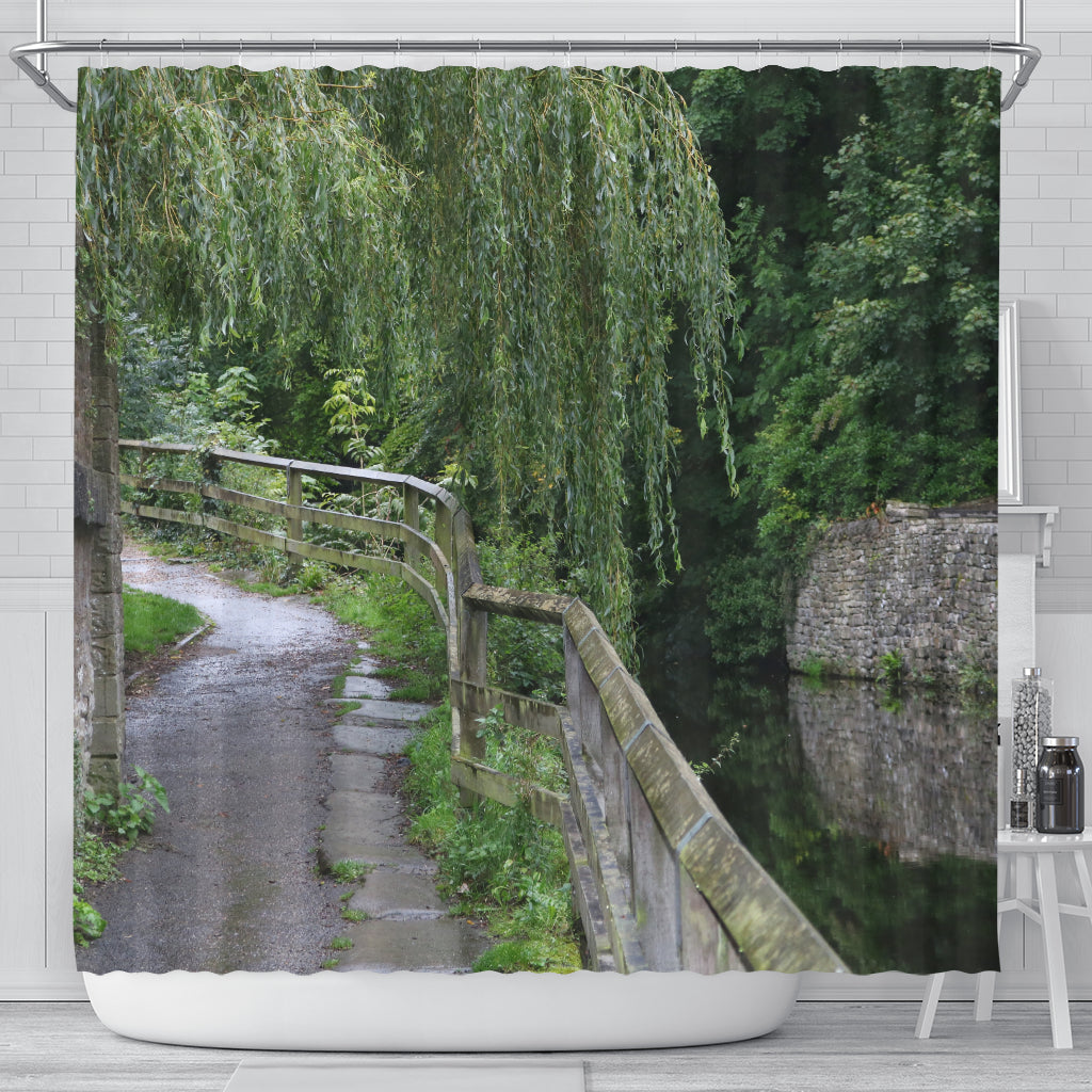 Skipton Canal Walk Shower Curtain
