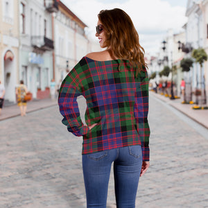 Clan MacDonald Tartan Off-Shoulder Sweater