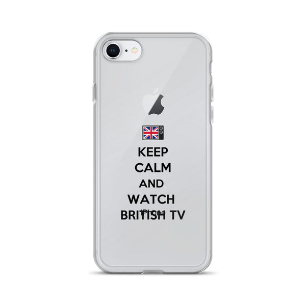 Keep Calm & Watch British TV iPhone Case