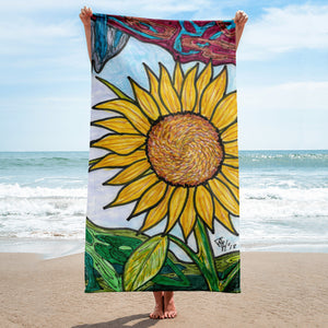 Charles Hutson Original Sunflower Towel