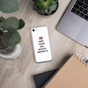 Keep Calm and Watch British TV Opaque iPhone Case