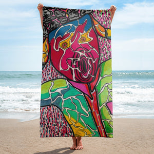 Charles Hutson Original Scream Beach Towel