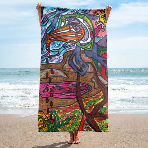"Charles Hutson Orginal ""The Watering Hole"" Beach Towel"