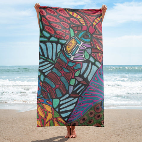 Charles Hutson Original Bug Beach Towel
