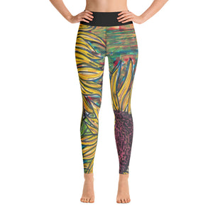 Charles Hutson Original Sunflower Yoga Leggings
