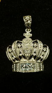 King Crown Silver Pendant