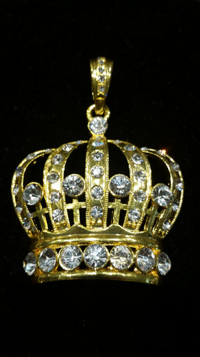 Crown Pendant Gold