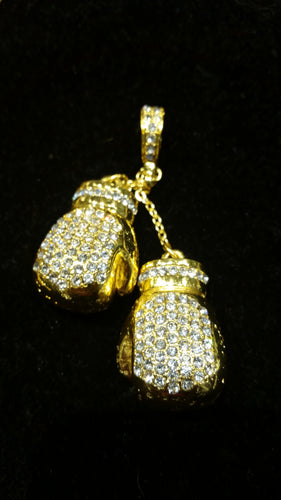 Gold Boxing Gloves Pendant