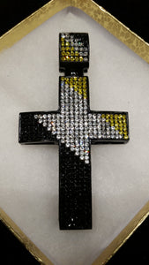 Black-White-Lemonade Cross Pendant