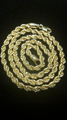 14K Italian Gold Rope Chain 24