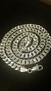 "Stainless Steel Cuban Link Chain 24"" 5MM"