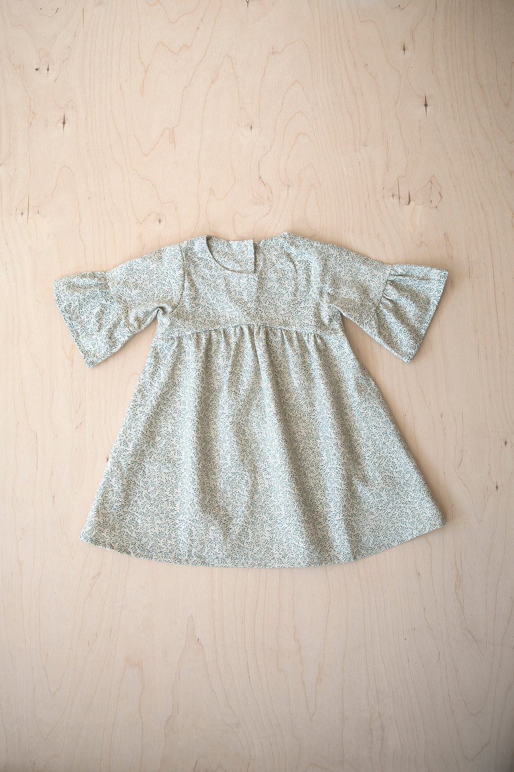 Hand Made Hearty Flared Sleeve Dress