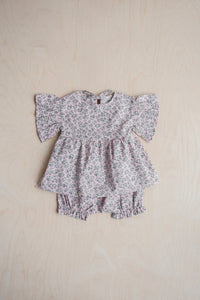 Flower Wings Blouse And Bloomers Set