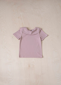 Short Sleeve Ruffle T-Shirt - Pink