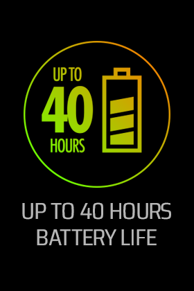 40 Hours Battery Life
