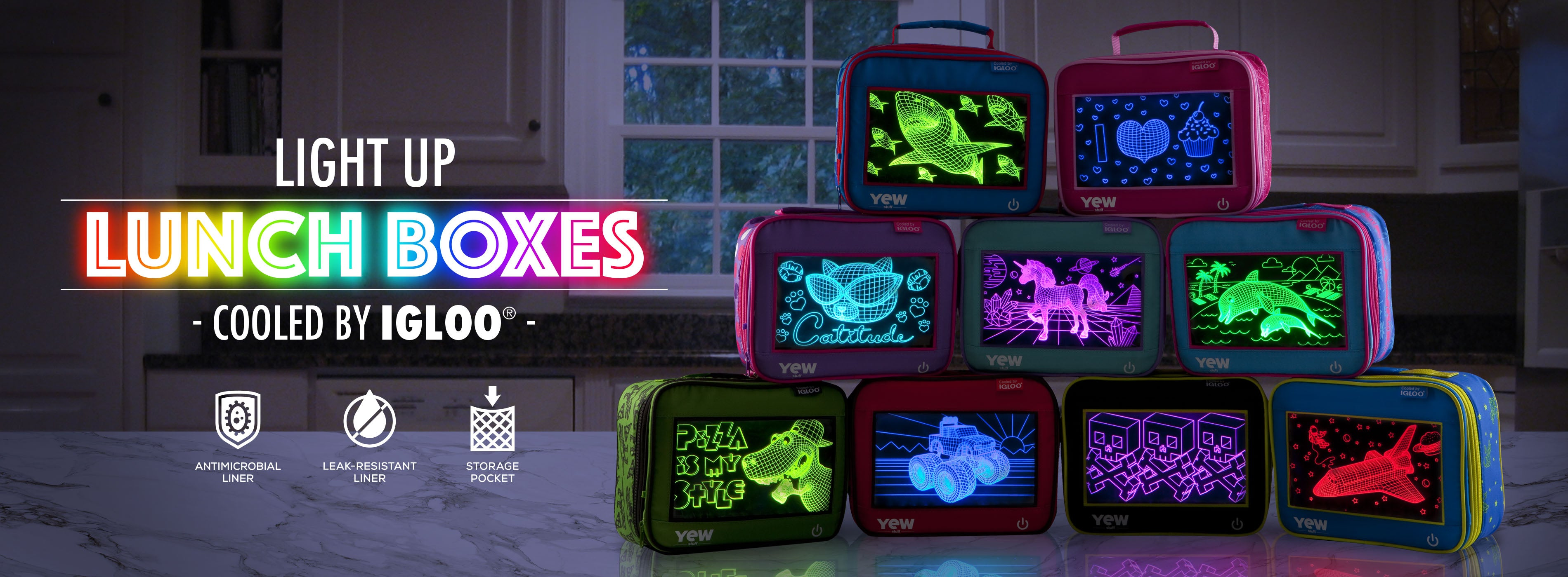 Yew Stuff Pop Lights Lunch Boxes Igloo