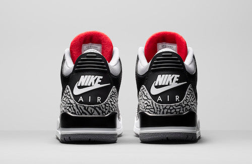c7e69be7d61 Jordan Retro 3 Black Cement Collection