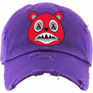 Baws Dad Hat Angry Baws Purple Dad Hat