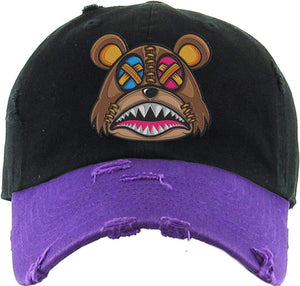 Baws : Hats Dad Hat Crazy Stitched Baws 2TONE Black/Purple Dad Hat