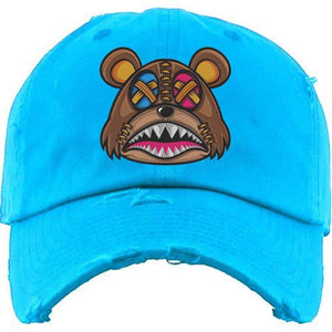 Baws : Hats Dad Hat CRAZY STITCHED BAWS Aqua Dad Hat