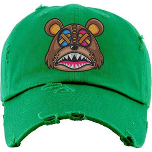 Baws : Hats Dad Hat CRAZY STITCHED BAWS Kelley Green Dad Hat
