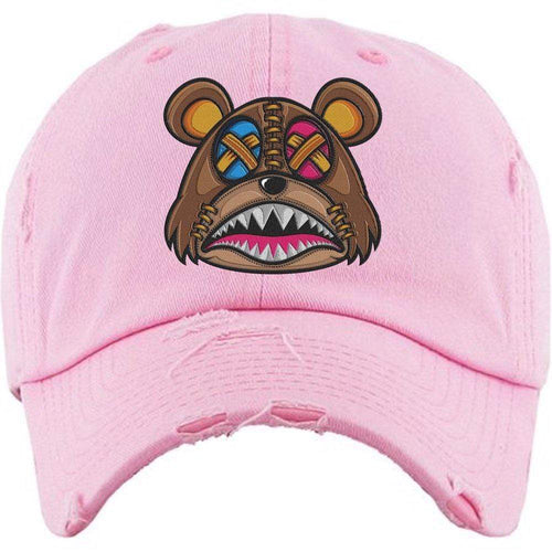 Baws : Hats Dad Hat CRAZY STITCHED BAWS Light Pink Dad Hat