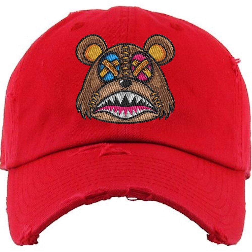 Baws : Hats Dad Hat CRAZY STITCHED BAWS Red Dad Hat
