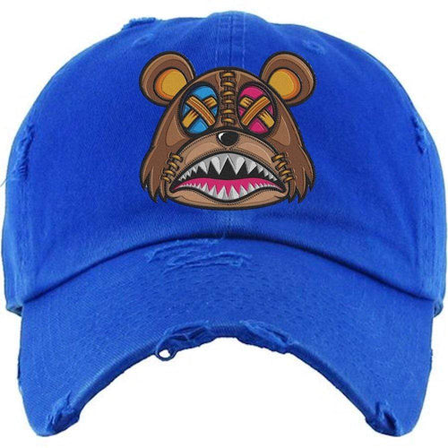 Baws : Hats Dad Hat CRAZY STITCHED BAWS Royal Blue Dad Hat