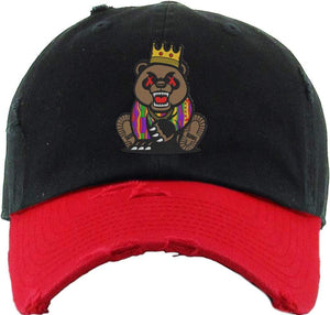 Baws : Hats Dad Hat GRIZZLY BAWS Dad Hat - 2Tone Black/Red