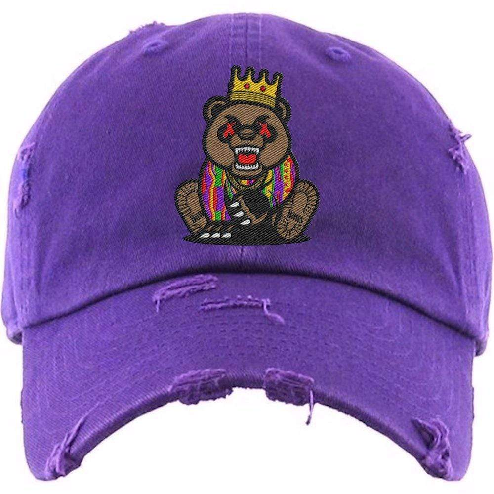 Baws : Hats Dad Hat GRIZZLY BAWS Purple Dad Hat