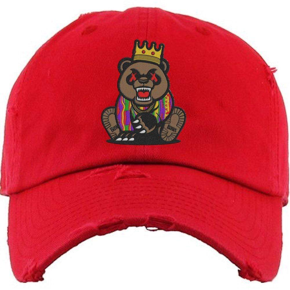 Baws : Hats Dad Hat GRIZZLY BAWS Red Dad Hat