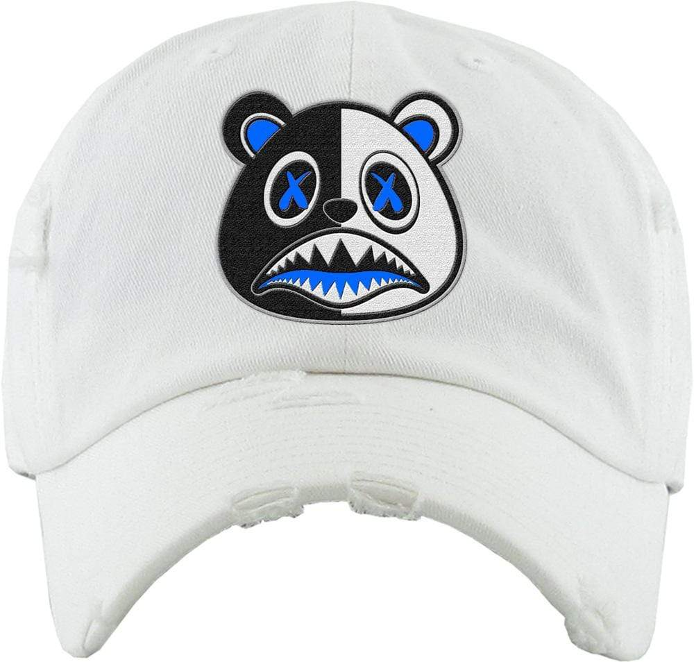 Baws : Hats Dad Hat Royal Scar Baws White Dad Hat