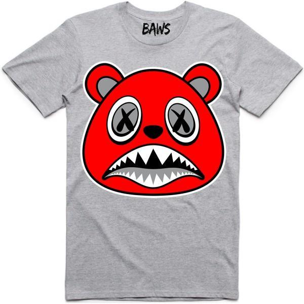 Baws T-Shirt Angry Baws Athletic Ash Grey Shirt