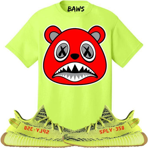 Shirt Match Yeezy Frozen Yellow Stitch Sneaker Tee
