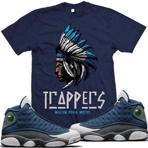 MDM T-Shirt Air Jordan Retro 13 Flint Match Sneaker Tees Shirt - TRAPPERS