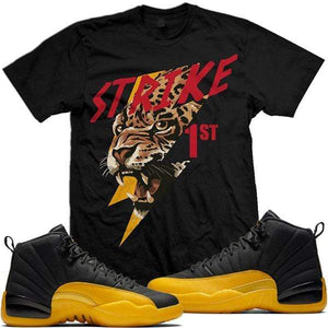 MDM T-Shirt Jordan 12 University Gold Sneaker Shirt Tees to Match - STRIKE 1ST
