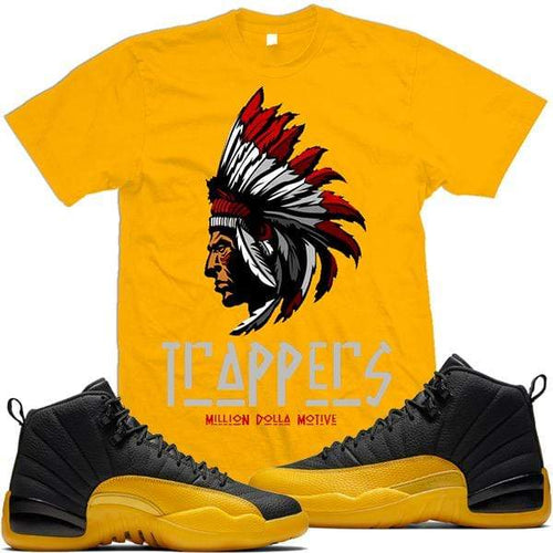 MDM T-Shirt Jordan 12 University Gold Sneaker Shirt Tees to Match - TRAPPERS