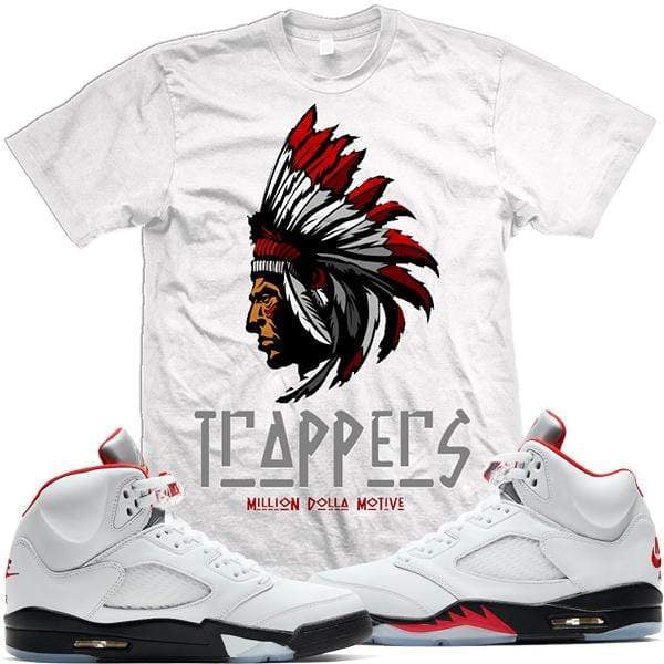 MDM T-Shirt Jordan Retro 5 69 Points Fire Red Sneaker Tees Shirts - TRAPPERS