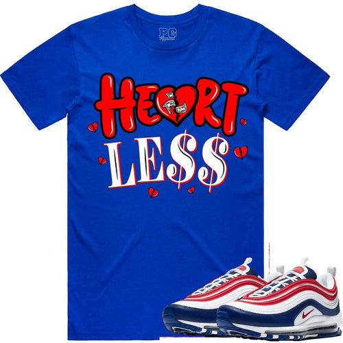 PG T-Shirt Nike Air Max 97 USA Sneaker Shirt Tees to Match - HEART LESS PG
