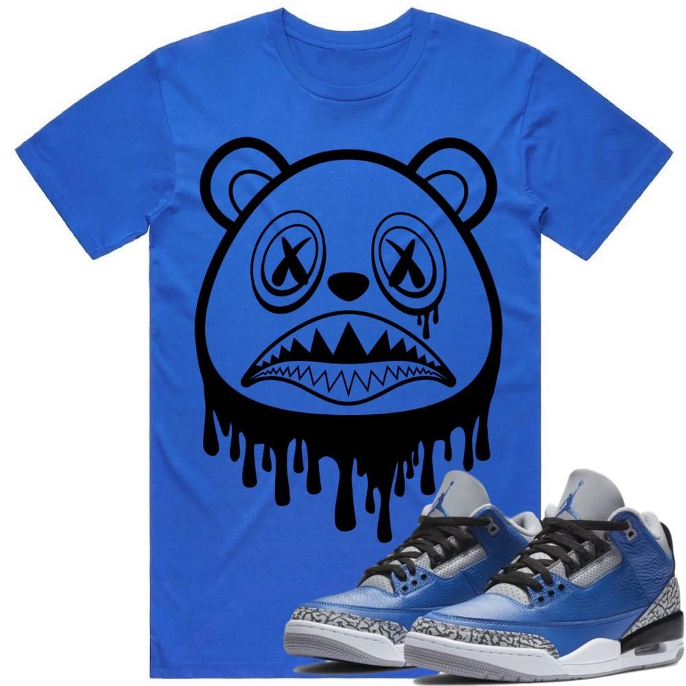 Sneaker Clothing Shirts T-Shirt BAWS DRIP - Jordan Retro 3 Varsity Royal Blue Cement Sneaker Tees Shirts to Match